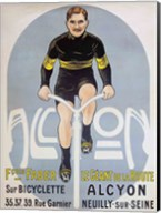 Poster depicting Francois Faber on his Alcyon bicycle Fine-Art Print