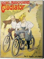 Poster advertising Gladiator bicycles and motorcycles Fine-Art Print