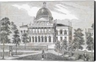 Southern view of the State House in Boston Fine-Art Print