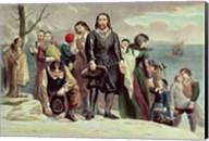 The Landing of the Pilgrims at Plymouth, Massachusetts, December 22nd 1620 Fine-Art Print