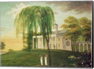 President George Washington on the porch of his house at Mount Vernon Fine-Art Print