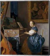 A Young Lady Seated at a Virginal Fine-Art Print