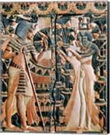 Tutankhamun and his wife Ankhesenamun in a garden Fine-Art Print