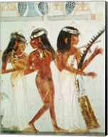 Musicians and a Dancer, from the Tomb of Nakht Fine-Art Print
