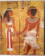 Tutankhamun and his wife, Ankhesenamun Fine-Art Print