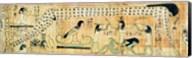 Funerary papyrus of Djedkhonsouefankh depicting Geb and Nut Fine-Art Print