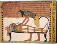 Anubis attends Sennedjem's Mummy Fine-Art Print