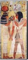 The Goddess Hathor placing the magic collar on Seti Fine-Art Print