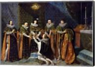 Louis XIII Receiving Henri d'Orleans Fine-Art Print