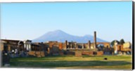 View of Vesuvius Over the Ruins of Popmeii Fine-Art Print
