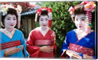 Three geishas, Kyoto, Honshu, Japan Fine-Art Print