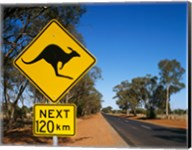 Kangaroo crossing sign, Australia Fine-Art Print