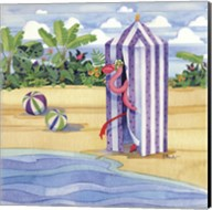 Cabana Flamingo Fine-Art Print