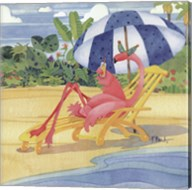 Deck Chair Flamingo Fine-Art Print