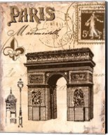 Paris Collage II Fine-Art Print