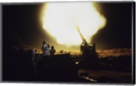 M198 Towed Howitzer Night Fire Fine-Art Print