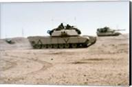Kuwait: Two M-141 Abrams Main Battle Tanks Fine-Art Print
