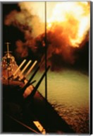 Mark-7 Guns fired from the USS Missouri Fine-Art Print