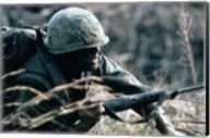 A Combat Ready Marine Holds Fine-Art Print