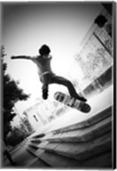 Skateboarding Black And White Fine-Art Print