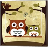 Two Owls on Swing Fine-Art Print