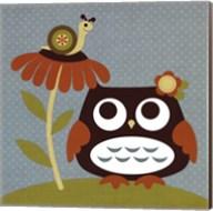 Owl Looking at Snail Fine-Art Print