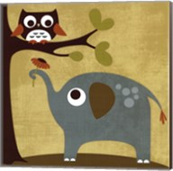 Owl and Elephant Fine-Art Print