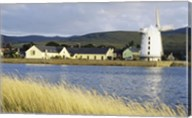 Traditional windmill along a river, Blennerville Windmill, Tralee, County Kerry, Ireland Fine-Art Print