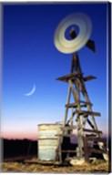 Industrial windmill at night, California, USA Fine-Art Print