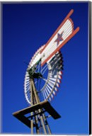 Close view of a windmill at American Wind Power Center, Texas Fine-Art Print