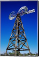 Low angle view of a windmill at American Wind Power Center, Lubbock, Texas, USA Fine-Art Print