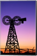 Silhouette of a windmill, American Wind Power Center, Lubbock, Texas, USA Fine-Art Print