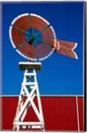Red Windmill in Texas Fine-Art Print