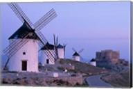 Windmills, La Mancha, Consuegra, Castilla-La Mancha, Spain In Blue Light Fine-Art Print