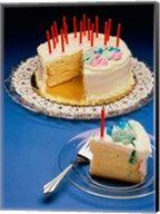Close-up of candles on a birthday cake Fine-Art Print