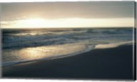 Waves breaking on the beach at sunrise Fine-Art Print