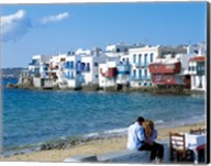 Little Venice, Mykonos, Cyclades Islands, Greece Fine-Art Print