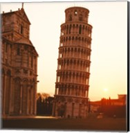 Tower at sunrise, Leaning Tower, Pisa, Italy Fine-Art Print