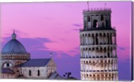 Tower at night, Leaning Tower, Pisa, Italy Fine-Art Print