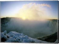 Sunrise over a waterfall, Niagara Falls, Ontario, Canada Fine-Art Print
