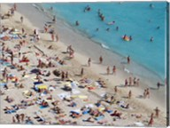 Aerial view of people at the beach, Waikiki Beach, Honolulu, Oahu, Hawaii, USA Fine-Art Print
