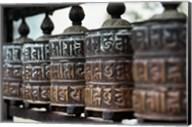 Close-up of prayer wheels, Kathmandu, Nepal Fine-Art Print