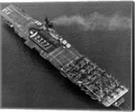 High angle view of an aircraft carrier in the sea, USS Boxer (CV-21), 1951 Fine-Art Print