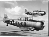 Side profile of two fighter planes in flight, AT-6 Texan Fine-Art Print