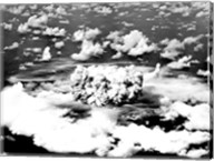 Aerial view of an atomic bomb explosion, Bikini Atoll, Marshall Islands Fine-Art Print