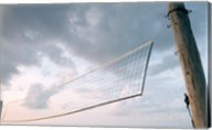 Volleyball net on the beach Fine-Art Print