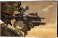 M4 Carbine Firing Fine-Art Print