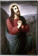 Christ Praying in Gethsemane Christian Schleisner (1810-1882) Fine-Art Print