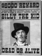 Billy The Kid Wanted Poster Fine-Art Print