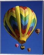 Yellow Rainbow Hot Air Balloon Fine-Art Print